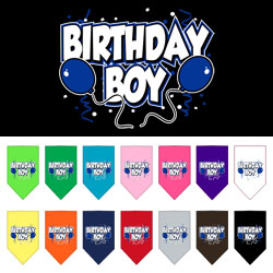 Birthday Boy Balloons Dog Bandana