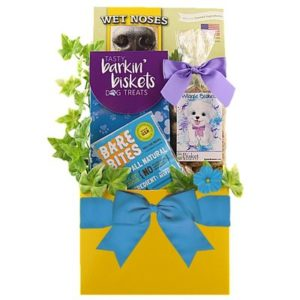 Dog Treat Gift Basket For Dogs