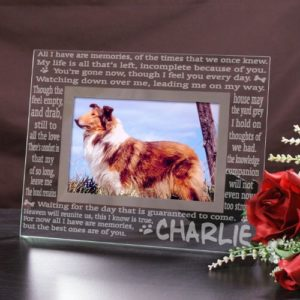 Engraved Memories Pet Memorial Glass Frame