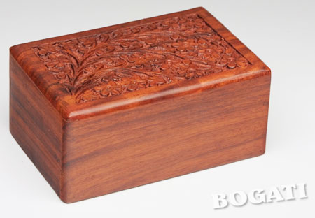 Hand Carved Rosewood Urn Boxes For Pets Pampered Paw Gifts