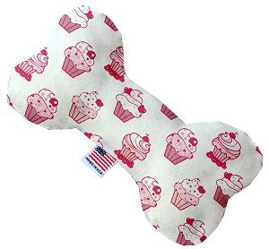 Pink Whimsy Cupcakes 6 inch Bone Dog Toy