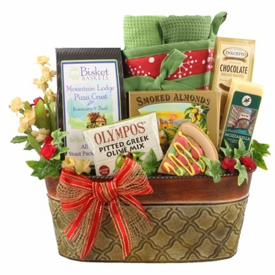 Pizza For Two Dog & Owner Gift Basket»Pampered Paw Gifts