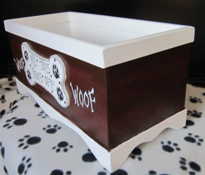 Handmade Dog Toy Extra Large Storage Box Pampered Paw Gifts