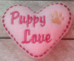 puppy love dog toy