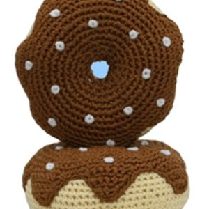 Chocolate Donut - The Original, 100% Organic Cotton Hand-Knit Dental Toy