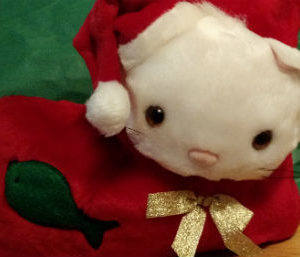 Plush Cat Christmas Stocking