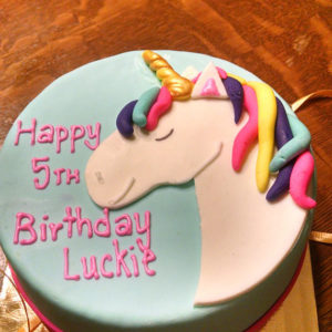 Unicorn 6 inch Dog Birthday Cake Peanut Butter Banana