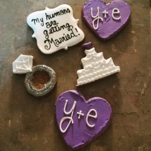 Wedding announcement dog treats