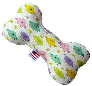 Easter Chickadees 6 inch Bone Dog Toy