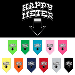 happy meter dog bandana