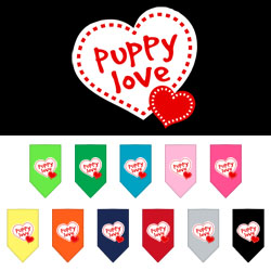 puppy love dog bandana