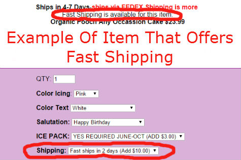 Fast Shipping Info