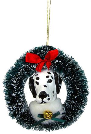 Large Head Breed Specific Wreath Ornament