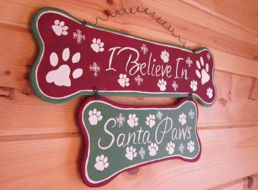 I Believe In Santa Paws Wood Sign Handmade