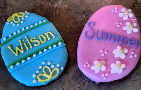 Large Personalized Easter Egg Dog Treats