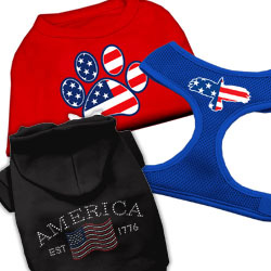 Patriotic Fourth of July  Dog Clothing and Harnesses
