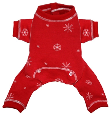 Snowflake Long Johns by Hip Doggie