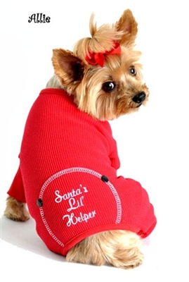 "Christmas Dog Pajama ""Santa's Lil' Helper"