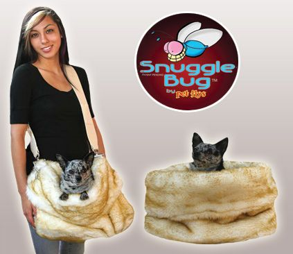 Cheetah Reversible Snuggle Bugs Pet Bed, Bag & Car Seat