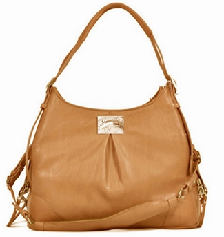 Zoie Mica Michele Mocha Faux Pebble Leather Carry Bag