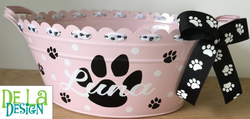 Personalized Scalloped Oval Metal Toy Bucket