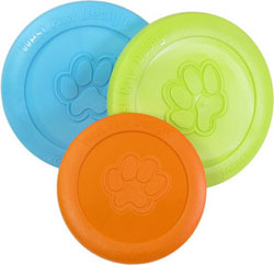 Zisc, is a durable, floating dog frisbee that goes the distance. Large (Colors Vary)