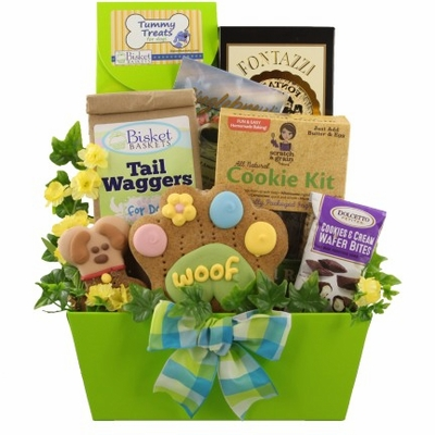 Goodies for Dog and Human Gift Basket