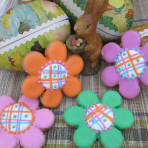 Large Daisy Flowers Dog Treats