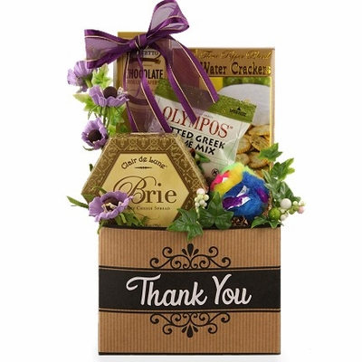 Many Thanks Cat Owner Gift Luxury Thank You Gift Basket Pampered