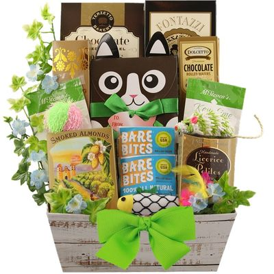 Purr Fect Cat And Owner Luxury Gift Basket For Cats Pampered Paw Gifts