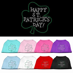 happy saint patricks day dog tee