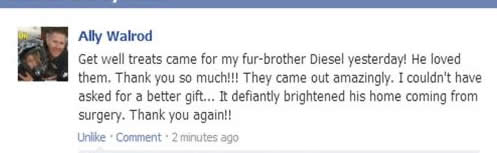 happy pampered paw gifts customer review on facebook