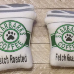 Coffee Cup Squeaky Dog Toy