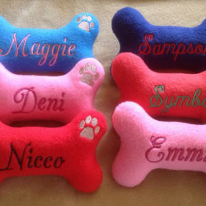 Personalized Dog Bone Toy