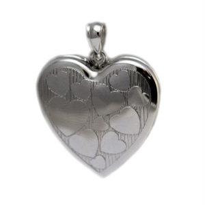 Sterling Silver Heart Cremation Ash Holder Locket with Picture