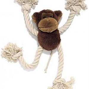 dog monkey rope plush toy
