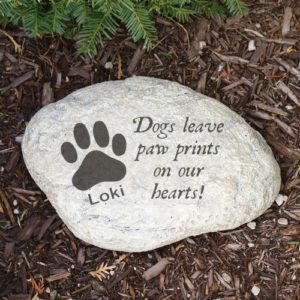 Engraved Dog Sympathy Garden Stone