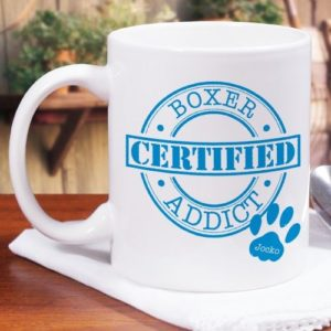 Personalized Certified Dog Addict Mug