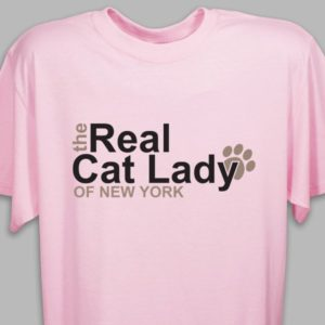 Personalized The Real Cat Lady T-Shirt