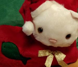 Plush Cat Christmas Stocking