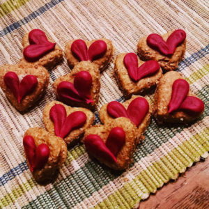10 itty bitty tiny Heart Valentine's Day Dog Treats