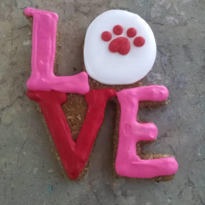 Large Love Dog Treat