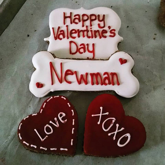 Personalized Valentine S Day Dog Treats Pampered Paw Gifts