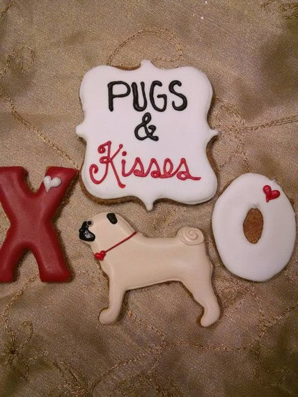 Pugs And Kisses Valentine S Day Dog Treats Pampered Paw Gifts