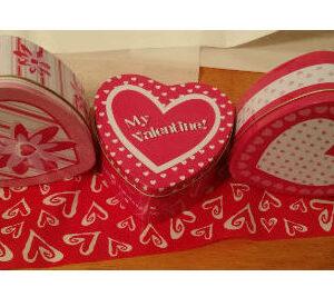 be my valentine treat tin