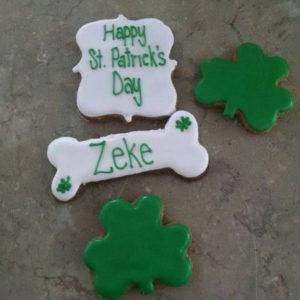 Personalized St Patrick's Day Dog treats