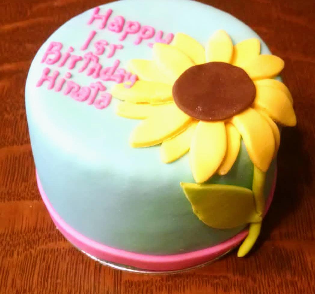 Organic Catnip And Tuna Or Chicken Cat Birthday Sunflower Cake
