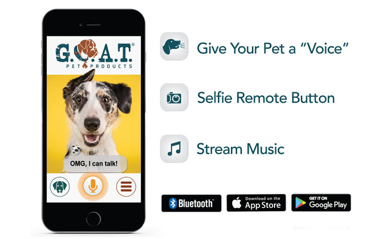 G O A T  Dog or Cat Bluetooth Speaker Selfie Camera & More | Pampered Paw  Gifts