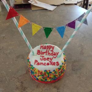 Organic Catnip And Tuna Or Chicken Rainbow Sprinkles Cat Birthday Cake
