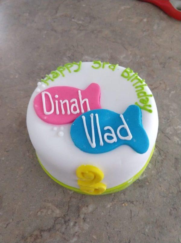 Organic Catnip And Tuna Or Chicken Cat Best Friends Birthday Fish Cake